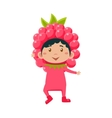 Kid In Raspberry Costume vector image vector image