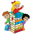 kids thematic image 4 vector image