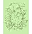 Ladybug color hand drawn vector image vector image