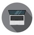 laptop flat icon digital display modern vector image