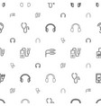 listen icons pattern seamless white background vector image vector image