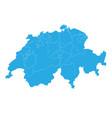 map of switzerland high detailed map - switzerland vector image vector image