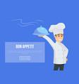 master of italian cuisine concept vector image vector image