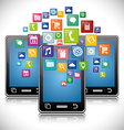 Mobile app design vector image vector image