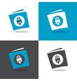 motorcycle book logo design template elements vector image vector image