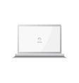 notebook laptop computer vector image