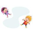 of winter kids vector image