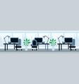 office working desk lunch break asian food concept vector image vector image