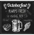 Oktoberfest beer design vector image