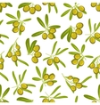 Olives seamless pattern background vector image vector image