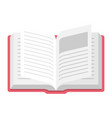 open book icon information and learning symbol vector image