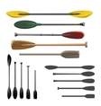 Paddles and oars icons vector image vector image