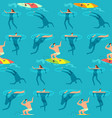 people swimming and diving ocean summer time on vector image
