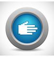 Pixel palm button vector image