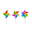 realistic detailed 3d wind mill set vector image