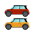 red and yellow cars in retro style vector image vector image