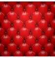 Red upholstery leather pattern background vector image vector image