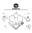 restaurant and food concept vector image