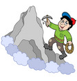 rock climber on mountain vector image