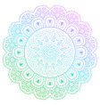 round gradient mandala with floral patterns vector image vector image