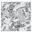 Seinfeld Season DVD text background wordcloud vector image vector image