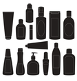 Set of cosmetic bottles silhouettes vector image vector image