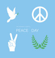 set of symbol for international peace day white vector image