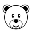 simple cartoon of a cute bear vector image vector image