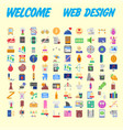 simple set of online shopping icons design vector image vector image