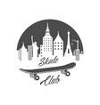 skate club logotype vector image vector image
