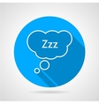 Sleep bubble flat round icon vector image vector image