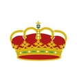 spain shield crown isolated icon vector image vector image