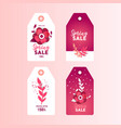 spring sale paper cut sticker for your design vector image vector image