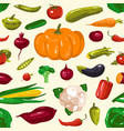 stock vegetables seamless pattern vector image