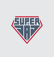 super dad - t-shirt print happy fathers day patch vector image vector image