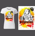 t-shirt design popular music vector image