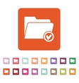 The folder icon File symbol Flat vector image vector image