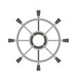 Yacht wheel vector image vector image