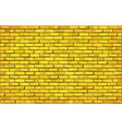 Yellow brick wall vector image