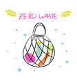 zero waste eco tote bag with products eco vector image