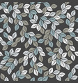 elegant pattern with leaves vector image