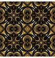 Golden ornamental background on black vector image