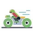 motoracer riding motorcycle vector image