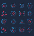 futuristic crosshairs or aims for target hud icon vector image