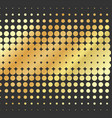 abstract dotted golden background halftone vector image