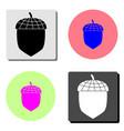 acorn flat icon vector image