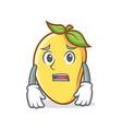 afraid mango character cartoon mascot vector image vector image