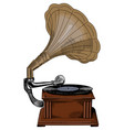 antique vintage gramophone vector image