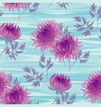 autumn flowers seamless pattern in violet color vector image vector image