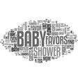 baby shower favor ideas and tips text word cloud vector image vector image